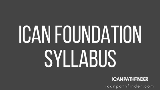 ican foundation syllabus